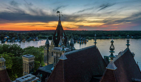 Wall Art - Photograph - Boldt Castle Rooftop Sunset by Johnny Truesdell