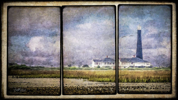 Wall Art - Digital Art - Bolivar Lighthouse Triptych 1 by Carol Fox Henrichs
