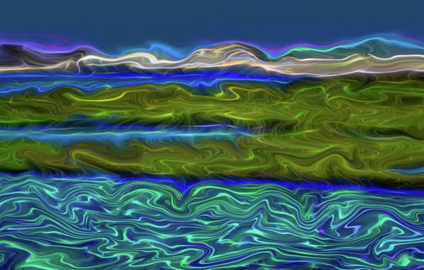 Marsh Bird Digital Art - Bolsa Chica Wetlands I Abstract 2  by Linda Brody