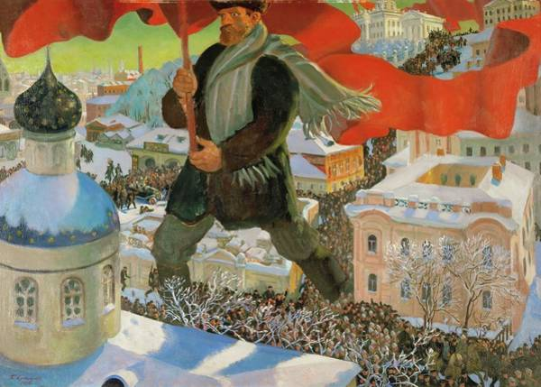 Tretyakov Gallery Painting - Bolshevik. Oil On Canvas -1920-. by Boris Mikhailovich Kustodiev