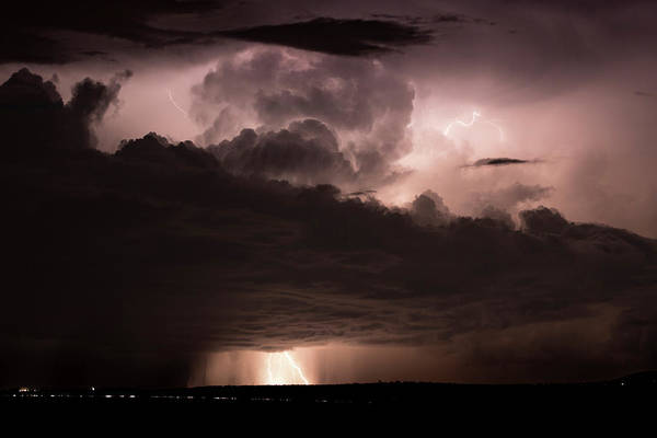 Shelf Cloud Photograph - Bolts Top And Bottom by Cathy Franklin