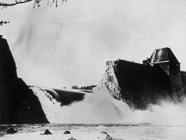 Rhine River Wall Art - Photograph - Bombed Dam by Keystone