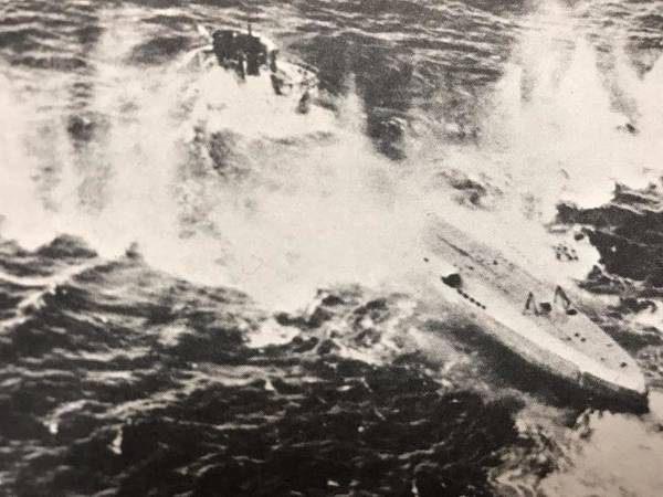 Wall Art - Photograph - Bombing A Nazi Sub by Lord Frederick Lyle Morris - Disabled Veteran