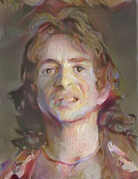 Bon Scott Painting - Bon Scott 1970s by Paul Van Scott