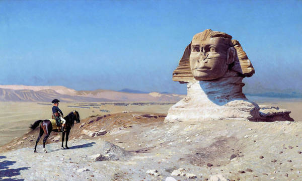 Wall Art - Painting - Bonaparte Before The Sphinx - Digital Remastered Edition by Jean-Leon Gerome