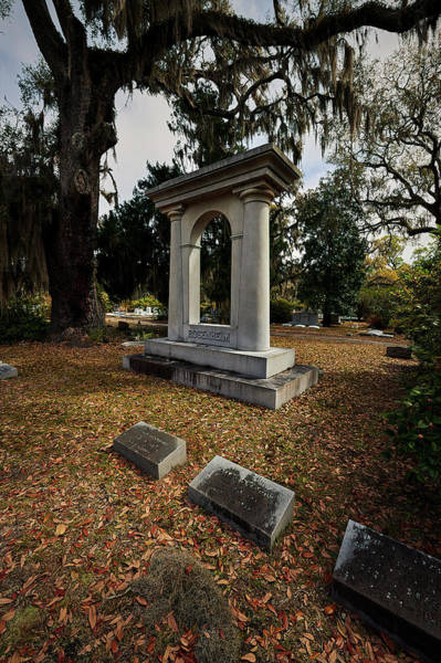 Photograph - Bonaventrue Headstone by Jon Glaser