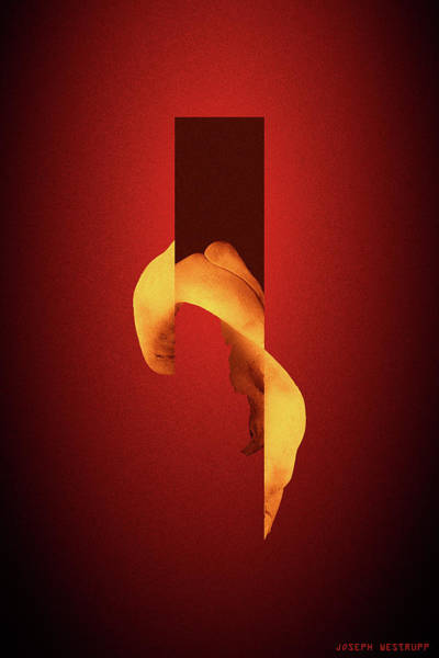 Figurative Abstract Photograph - Bone Flare - Surreal Abstract Elephant Bone Collage With Rectangle by Joseph Westrupp