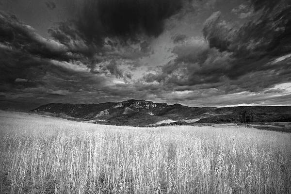 Photograph - Boney Mountain Black And White by John Rodrigues
