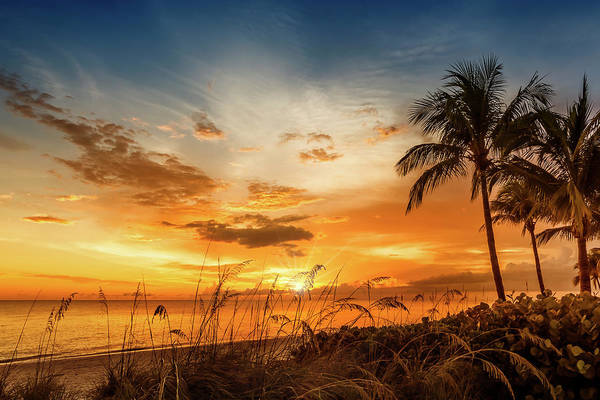 Wall Art - Photograph - Bonita Beach Bright Sunset by Melanie Viola