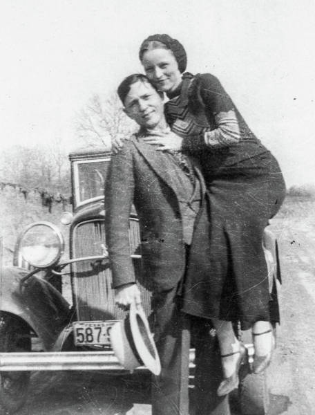 Wall Art - Painting - Bonnie And Clyde, 1933 by American School