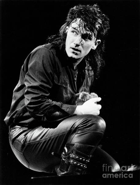 Photograph - Bono 1984 by Russell Brown