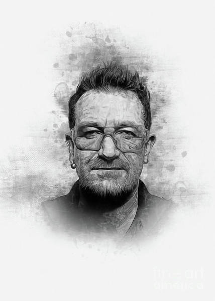 Digital Art - Bono by Ian Mitchell