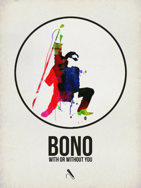 Hard Rock Wall Art - Digital Art - Bono II by Naxart Studio