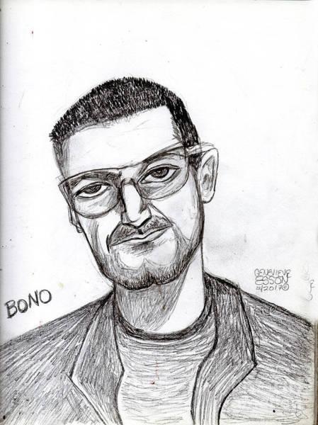 Rocker Painting - Bono Vox by Genevieve Esson