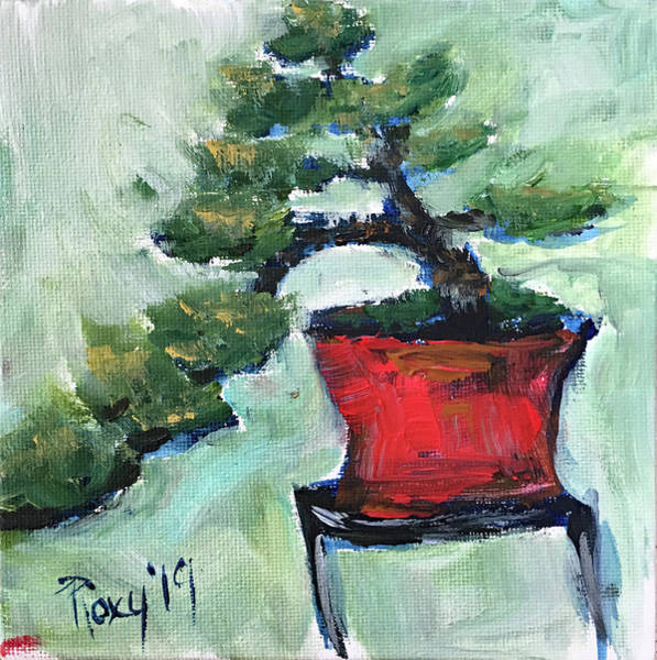 Wall Art - Photograph - Bonsai In A Red Pot by Roxy Rich