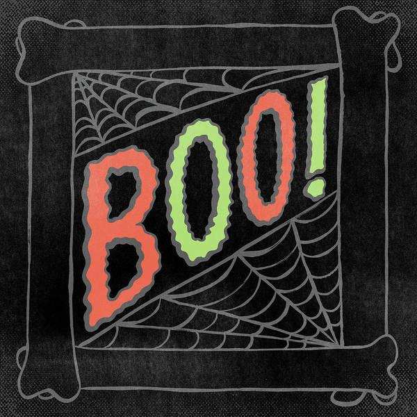 Painting - Boo Halloween Art by Jen Montgomery