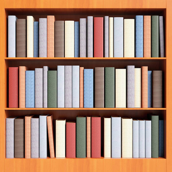 Learning Photograph - Book Case With Shelving Full Of Books by Jon Boyes
