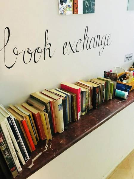 Asilah Wall Art - Photograph - Book Exchange  by Winter Nicole Monroe