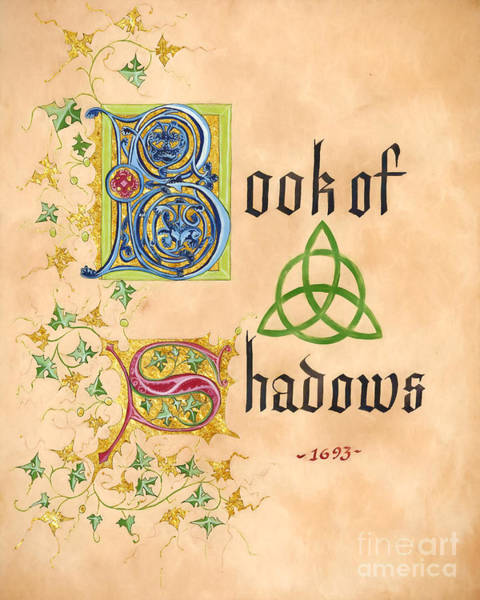 Phoebe Digital Art - Book Of Shadows Page by The Halliwell Ones