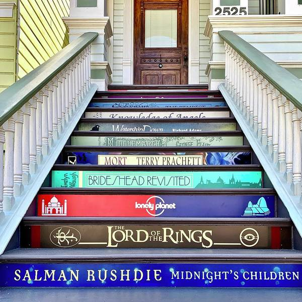 Wall Art - Photograph - Book Stairs by Julie Gebhardt