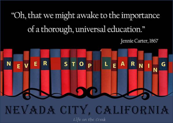 Digital Art - Books Never Stop Learning by Lisa Redfern