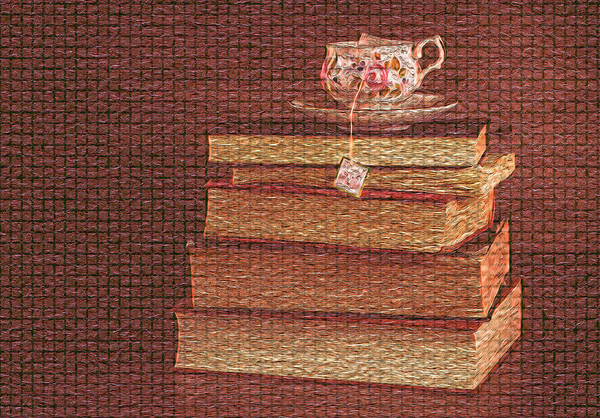 Shelves Mixed Media - Books Or Coffee? by Towseef Dar