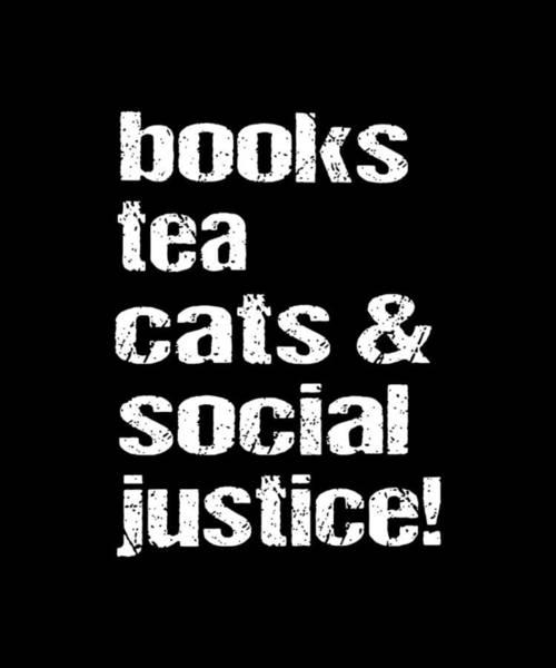 Cajal Wall Art - Digital Art - Books Tea Cats Social Justice Science by Ben McLeay