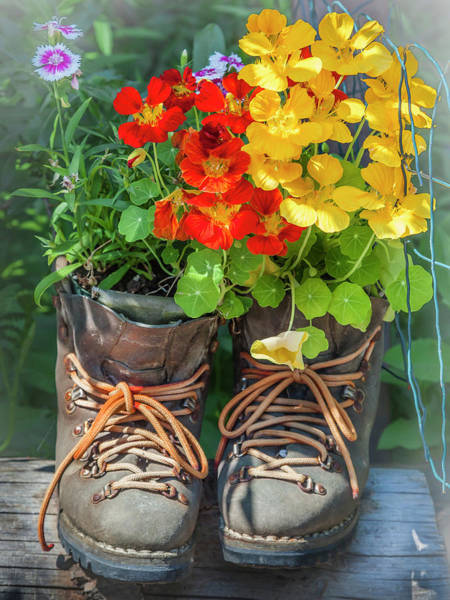 Photograph - Boot Bouquet by Mark Mille