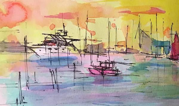 Drawing - Boothbay 2  by Jason Nicholas
