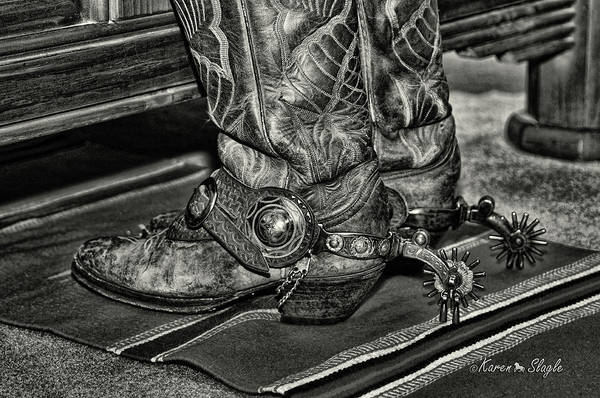 Photograph - Boots And Spurs By The Bed by Karen Slagle