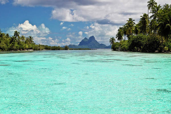 Polynesia Wall Art - Photograph - Bora Bora At End Of Channel Between Two by Emily Riddell