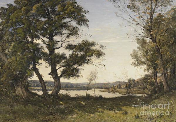 Wall Art - Painting - Bord De Loing, 1891 by Henri-Joseph Harpignies