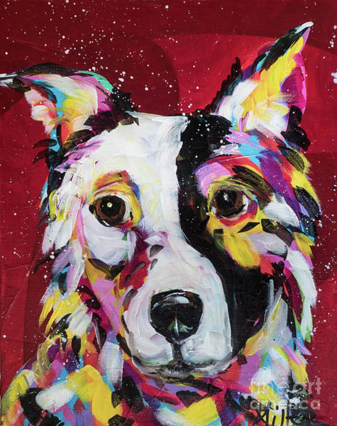 Wall Art - Painting - Border Collie by Tracy Miller