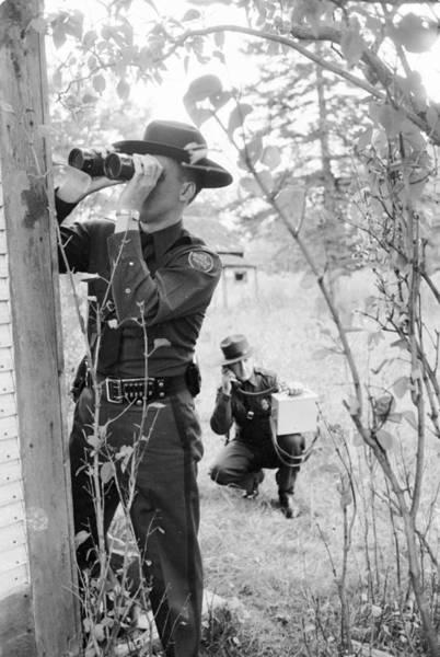 Binoculars Photograph - Border Police by Three Lions