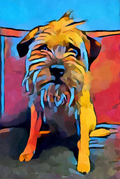 Wall Art - Painting - Border Terrier by Chris Butler