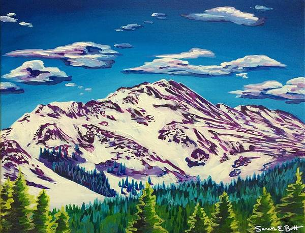 Painting - Boreas Mountain  by Sarah E Bott
