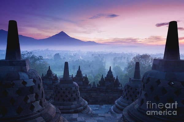 Hinduism Wall Art - Photograph - Borobudur Temple, Yogyakarta, Java by Pigprox