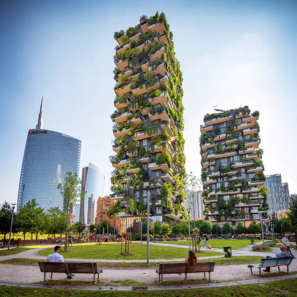 Photograph - Bosco Verticale - Milan, Italy by Nico Trinkhaus