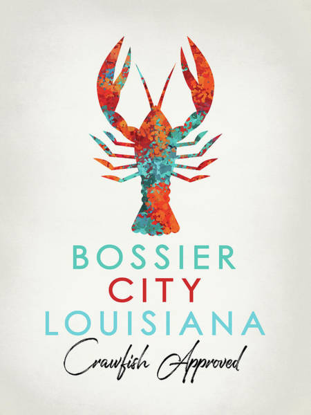Louisiana Digital Art - Bossier City Louisiana Crawfish Bright by Flo Karp