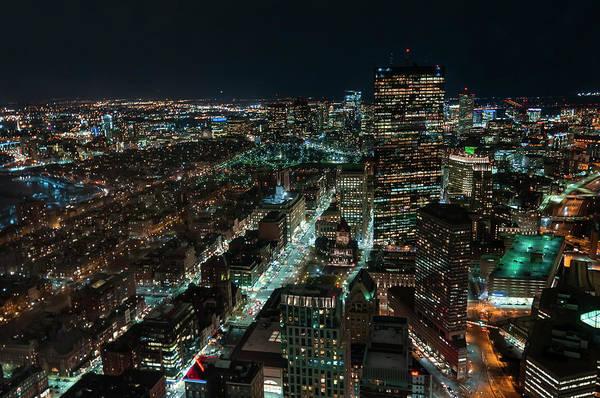 Boston, At Night Art Print