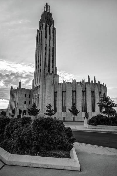 Photograph - Boston Avenue United Methodist Church - Tulsa Oklahoma - Black And White by Gregory Ballos