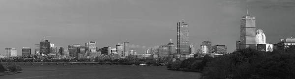 Photograph - Boston Back Bay Skyline Black And White by Juergen Roth