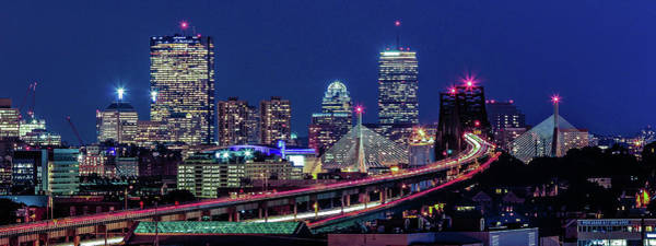 Wall Art - Photograph - Boston Blue Hour Skyline by (c) Swapan Jha