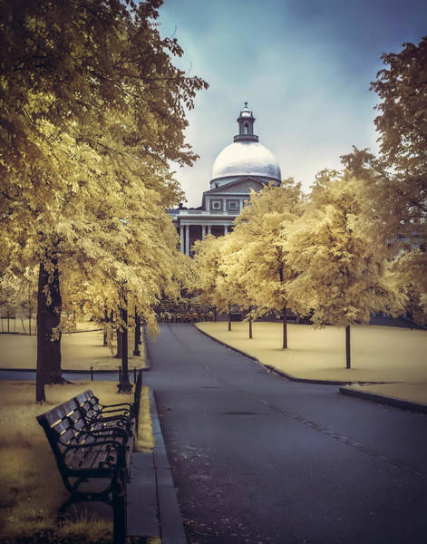 Photograph - Boston Common And The State House by Joann Vitali