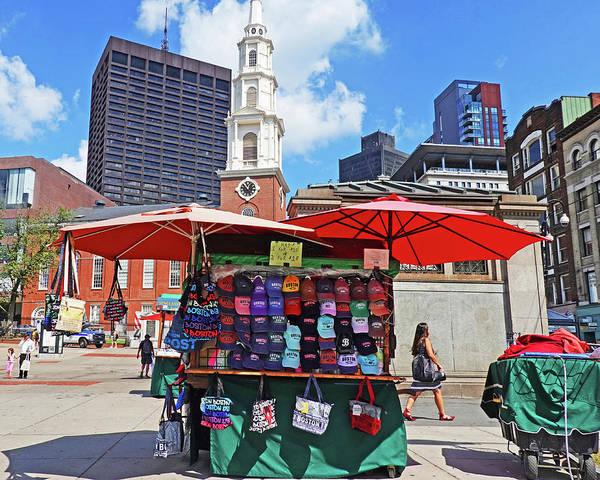 Photograph - Boston Common Multicolor Baseball Caps Boston Ma by Toby McGuire