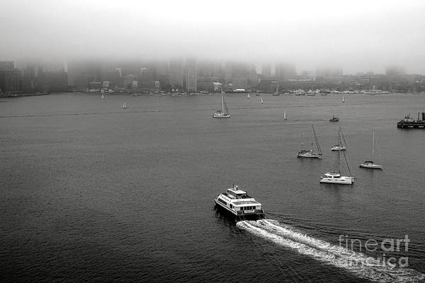 Photograph - Boston Harbor In Fog by Olivier Le Queinec