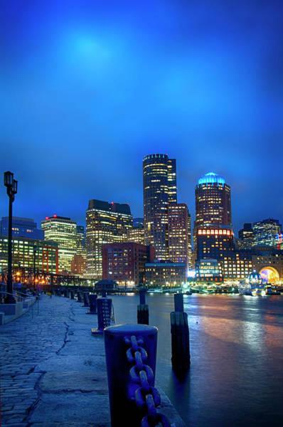 Photograph - Boston Harbor Skyline From Fan Pier by Joann Vitali