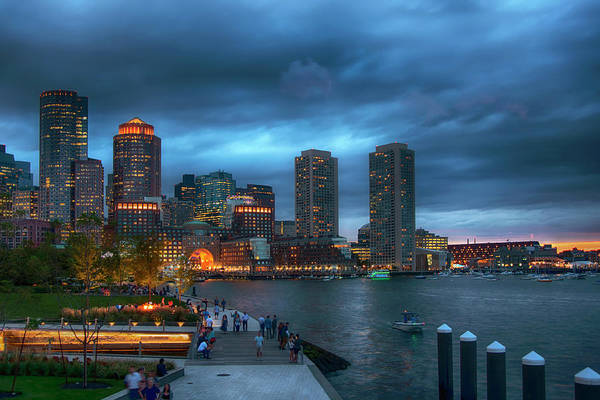 Photograph - Boston Harbor Skyline In Summer by Joann Vitali