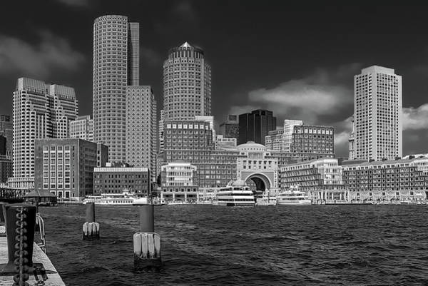 Photograph - Boston Harbor Skyline by Robert Mitchell