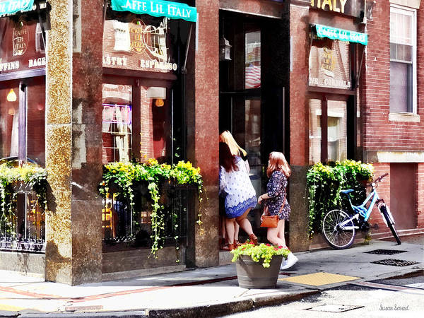 Photograph - Boston Ma - Cafe In Little Italy by Susan Savad